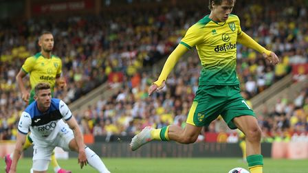 Todd Cantwell opened the scoring for Norwich City against Atalanta Picture: Paul Chesterton/Focus Im