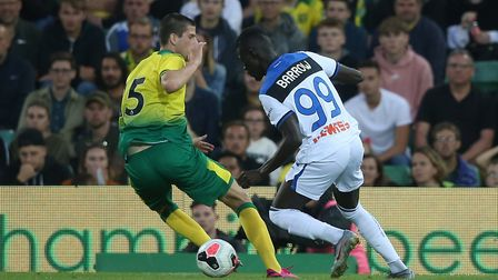 Norwich City captain Timm Klose made a costly error against Atalanta Picture: Paul Chesterton/Focus