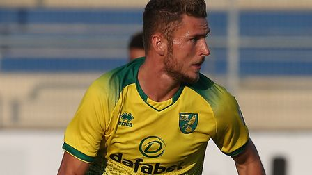 Dennis Srbeny of Norwich in action during the Pre-season friendly match at Frimo Stadion, LottePictu
