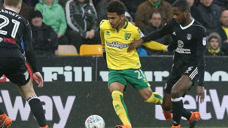 Marcus Edwards during his only senior appearance for Norwich City Picture: Paul Chesterton/Focus Ima