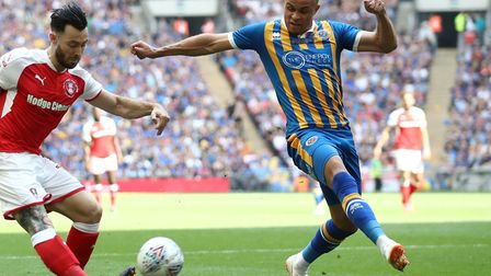 Carlton Morris was a regular for Shrewsbury during his 2017-18 loan Picture: PA
