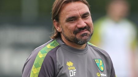 Daniel Farke takes Norwich City to Luton Town today in the Canaries' latest pre-season test Picture: