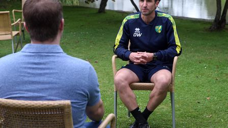 Norwich City U23 head coach David Wright spoke to David Freezer in Germany Picture: Paul Chesterton/