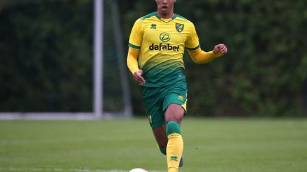 Jamal Lewis of Norwich in action during the Pre-season friendly match at Hotel-Residence Klosterpfor