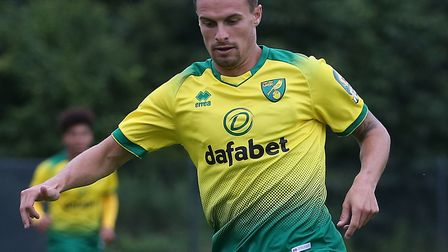 Philip Heise of Norwich in action during the Pre-season friendly match at Hotel-Residence Klosterpfo