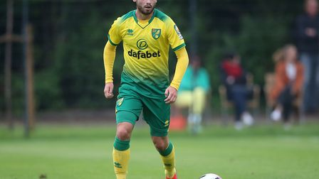 Patrick Roberts of Norwich in action during the Pre-season friendly match at Hotel-Residence Kloster