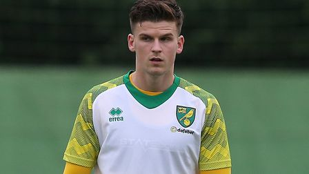Sam Byram of Norwich warms up before the Pre-season friendly match at Hotel-Residence Klosterpforte,