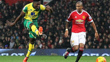 Alex Tettey notched a famous Norwich City winner at Manchester United Picture: Paul Chesterton/Focus