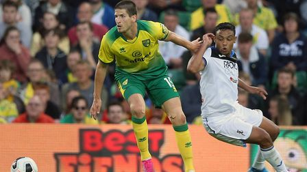 Timm Klose was captain for the midweek friendly against Atalanta at Carrow Road Picture: Paul Cheste