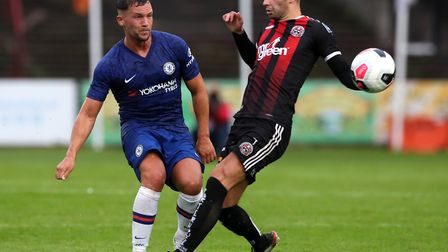 Chelsea's Danny Drinkwater (left) in action during the pre-season friendly at Dalymount Park, Dublin