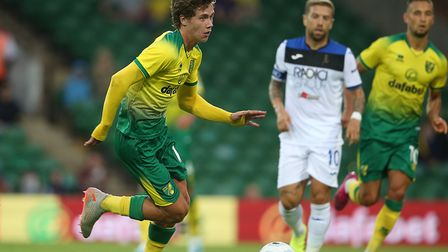 Academy product Todd Cantwell impressed during Norwich City's friendly defeat to Atalanta Picture: P
