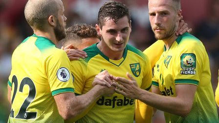 Kenny McLean of Norwich celebrates scoring his sides 1st goal during the Pre-season friendly match a