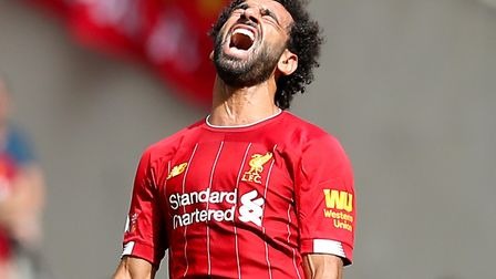 Mo Salah couldn't earn victory for Liverpool at Wembley Picture: PA
