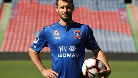 Wes Hoolahan in the colours of his new team, Newcastle Jets Picture: Newcastle Jets
