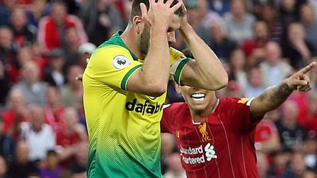 Grant Hanley scored an unfortunate own goal in just the seventh minute of City's loss at Liverpool P