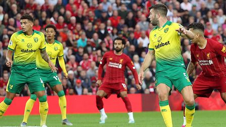 The moment Grant Hanley knew he was in trouble at Anfield Picture: Paul Chesterton/Focus Images