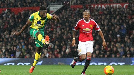 Alex Tettey scores the winner at Old Trafford in December, 2015 - a highlight of the relegation seas