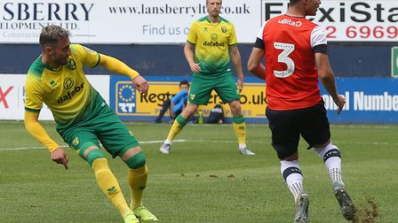 Josip Drmic scored a first half hat-trick at Kenilworth Road Picture: Paul Chesterton/Focus Images L