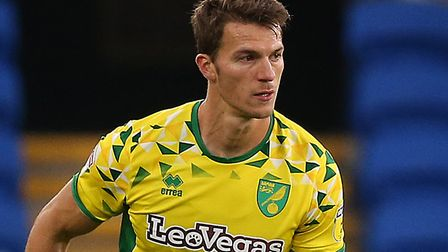 Christoph Zimmermann in League Cup action during Norwich City's second round win at Cardiff last sea