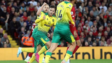 Teemu Pukki celebrates his goal Picture: Paul Chesterton/Focus Images Ltd