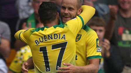 Teemu Pukki's hat-trick earned Norwich their first win of the season Picture: Paul Chesterton/Focus