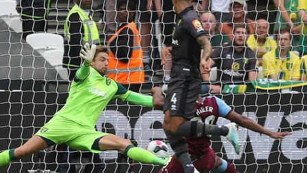 Norwich keeper Tim Krul couldn't deny West Ham striker Sebastien Haller Picture: Paul Chesterton/Foc