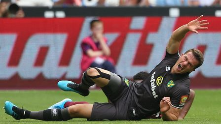 Christoph Zimmermann initally tried to carry on at West Ham after being injured Picture: Paul Cheste