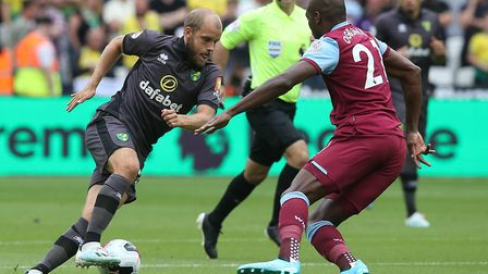 Norwich City slipped up 2-0 at West Ham in their last Premier League away day Picture: Paul Chestert