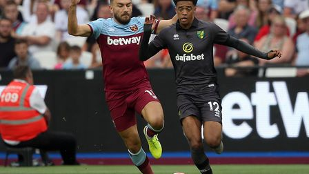 West Ham midfielder Robert Snodgrass is a big fan of Norwich City's attacking style Picture: Paul Ch