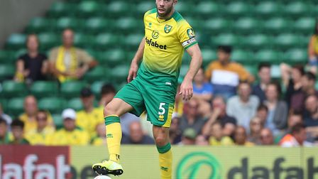 Grant Hanley was solid at the heart of Norwich City's back four against Newcastle. Picture: Paul Che