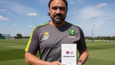 Daniel Farke yesterday collected the League Managers' Association (LMA) performance of the week trop