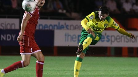 Patrick Roberts couldn't find an equaliser at Crawley for Norwich City Picture: Paul Chesterton/Focu