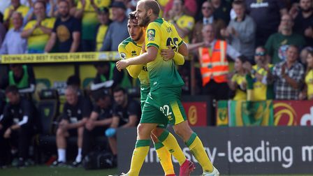Teemu Pukki's confidence is sky high after his hat-trick against Newcastle United. Picture: Paul Che