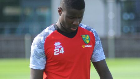 Ibrahim Amadou comes into contention for a Norwich City debut at Crawley Town in the Carabao Cup Pic
