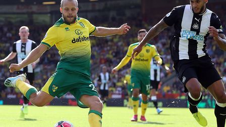 Teemu Pukki has stepped up to the Premier League with a bang at Norwich City Picture: Paul Chesterto