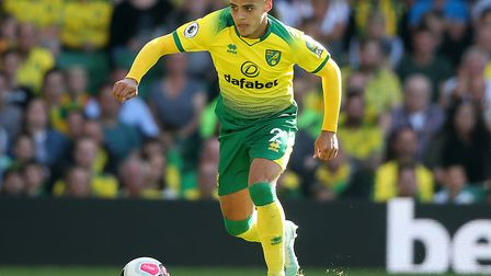 Max Aarons looks to have picked up the Premier League pace quickly for Norwich City Picture: Paul Ch