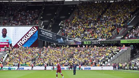 Some Norwich City fans weren't impressed upon their first visit to the London Stadium. Picture: Paul