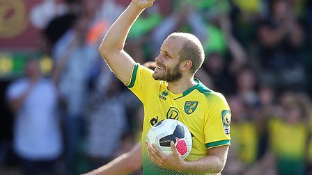 Hat trick hero Teemu Pukki claimed the match ball at the end of Norwich City's 3-1 Premier League wi