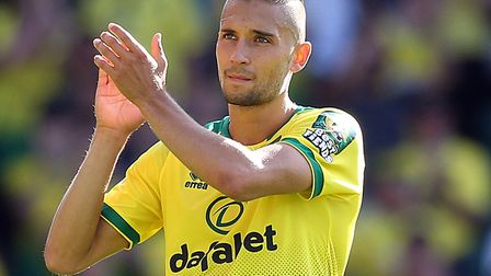 Moritz Leitner thanks the Carrow Road faithful after Norwich City's victory over Newcastle Picture: