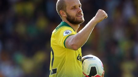 Hat trick hero Teemu Pukki of Norwich took home the match ball after Norwich City's 3-1 win over New