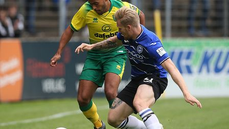 Norwich City's on loan midfielder Louis Thompson was back in action for Shrewsbury Town at the weeke