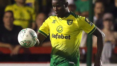 Daniel Farke was impressed with Norwich City new boy Ibrahim Amadou at Crawley Picture: Paul Chester
