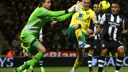 Tim Krul on the opposite side at Carrow Road in a previous Premier League meeting between Norwich Ci