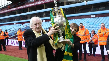 All that glitters is silver, for Norwich City owners Delia Smith and Michael Wynn Jones with the Cha