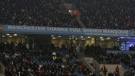 Sign of the times at Manchester City's home Picture: PA