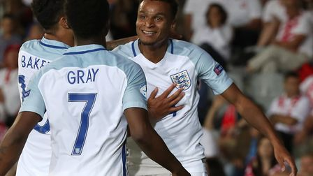 Jacob Murphy scored for the England U21s against Poland at the 2017 European U21 Championships, ahea