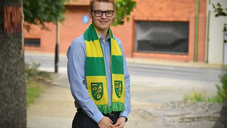 Connor Southwell is a lifelong Norwich City fan. Picture: Jamie Honeywood