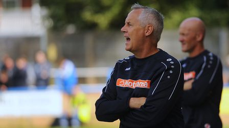 King's Lynn manager Ian Culverhouse at The Walks Picture: DENISE BRADLEY