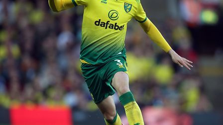 Sam Byram made his first league start for Norwich during the win over Manchester City Picture: Paul