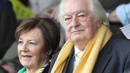 Norwich City's joint majority shareholders, Delia Smith and her husband Michael Wynn-Jones, appeared